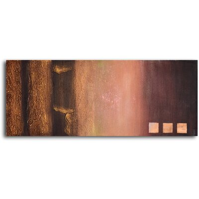 My Art Outlet Fade to Gold Original Painting on Wrapped Canvas