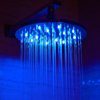 "10"" Round LED Rain Shower Head Product Photo"