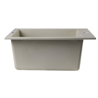 "19.88"" x 16.13"" Drop-In Rectangular Prep Kitchen Sink Product Photo"
