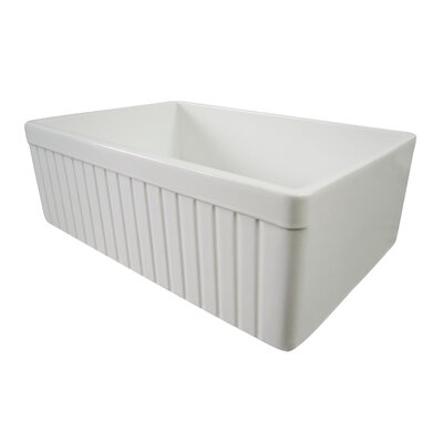 "29.88"" x 19.75"" Single Bowl Fluted Farmhouse Kitchen Sink Product Photo"
