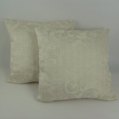 American Mills Scroll Damask Throw Pillow