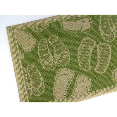 Flip Flops Emerald Indoor/Outdoor Area Rug by American Mills