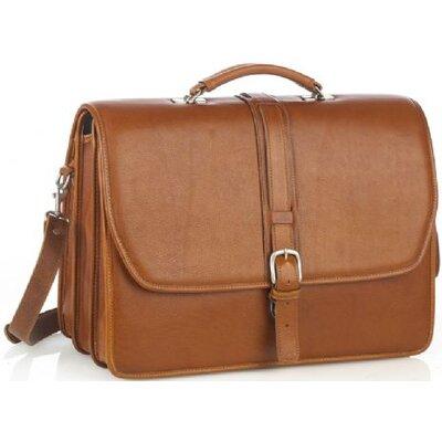 Aston Leather Leather Laptop Briefcase