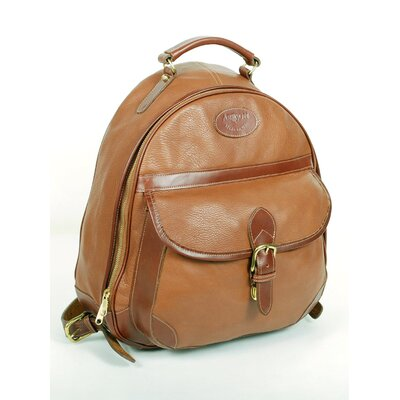 Half-Moon Zippered Backpack by Aston Leather