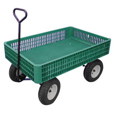 Millside Industries Mesh Deck Wagon Lawn Cart