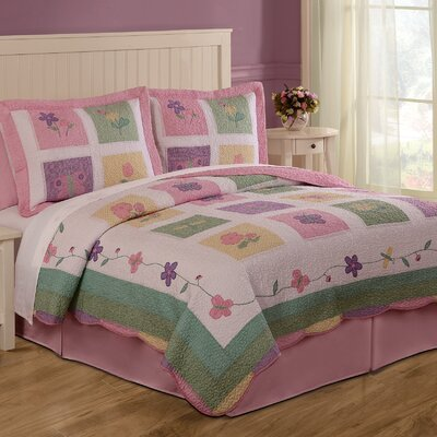 Spring Meadow Quilt with Pillow Sham by My World