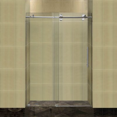 """Completely 75"""" x 48"""" Sliding Frameless Shower Door Product Photo"""