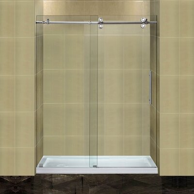 "Completely 77.5"" x 60"" Sliding Frameless Shower Door Product Photo"