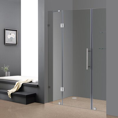 "Completely 75"" x 60"" Pivot Frameless Hinged Shower Door Product Photo"