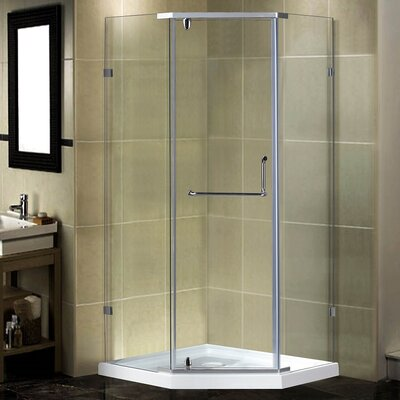 """38"""" x 38"""" x 77.5"""" Neo-Angle Shower Enclosure with Base Product Photo"""