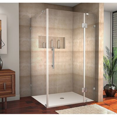 "Avalux 48"" x 30"" x 72"" Completely Frameless Hinged Shower Enclosure Product Photo"