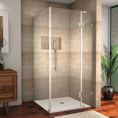"""Avalux 38"""" x 35"""" x 72"""" Completely Frameless Hinged Shower Enclosure Product Photo"""