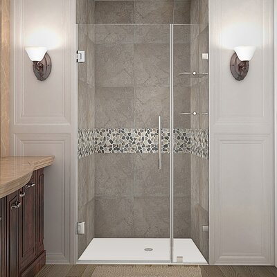 "Nautis GS 40"" Frameless Hinged Swing Shower Door Product Photo"