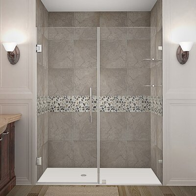"Nautis GS 60"" Frameless Hinged Swing Shower Door Product Photo"