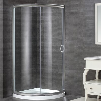 """40"""" x 40"""" x 77.5"""" Sliding Door Shower Enclosure with Base Product Photo"""