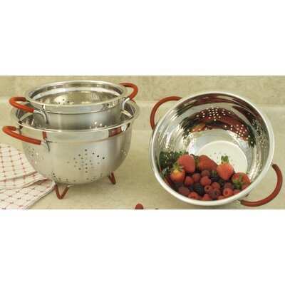 3 Piece Professional Heavy Duty Stainless Steel Colander Set by Cook Pro