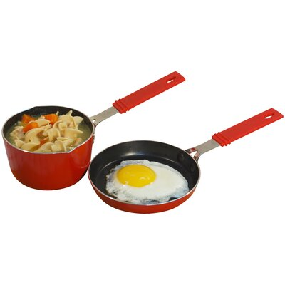 Mini Aluminum 2 Piece Cookware Set by Cook Pro