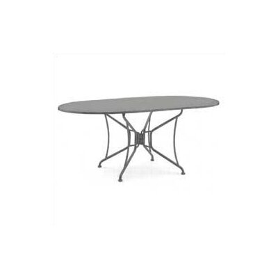 Premium Mesh Top Oval Umbrella Dining Table by Woodard