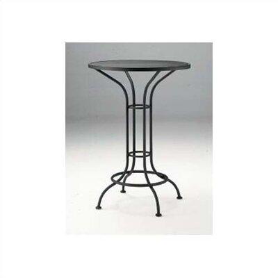 Woodard Bar Height Outdoor Round Mesh Top Bistro Table
