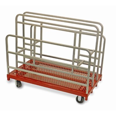 """Raymond Products 46.75"""" x 30"""" x 54"""" Coated Heavy Duty Cross Braced Panel and Sheet Mover Table Dolly"""