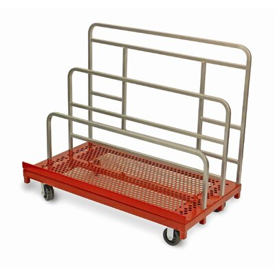 """Raymond Products 45.75"""" x 30"""" x 54"""" Coated Heavy Duty Waterfall Panel and Sheet Mover Table Dolly"""