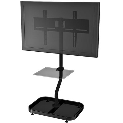 "Adjustable Ergonomic Tilt Universal Floor Stand Mount for 32"" - 46"" Flat Panel Screens Product Photo"