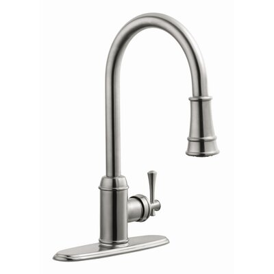 Ironwood Single Handle Kitchen Faucet with Pullout Sprayer Product Photo