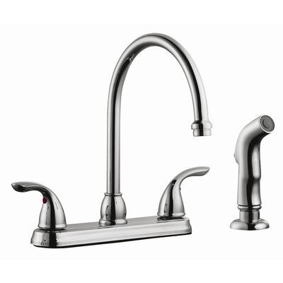 Ashland Double Handle High Arch Kitchen Faucet with Sprayer by Design House