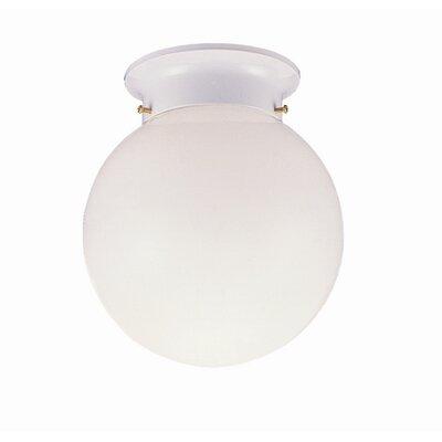 Design House 1 Light  Flush Mount  with Opal Glass