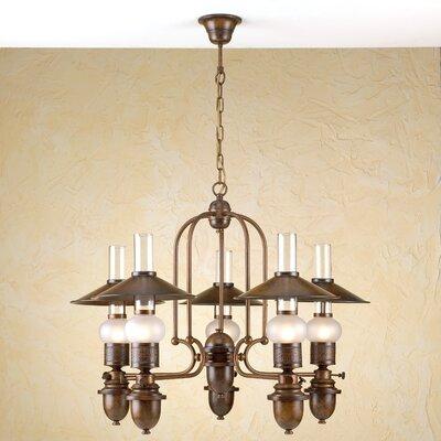 Rustik Velha Five Light Chandelier by Lustrarte Lighting