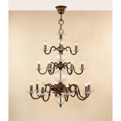 Classic Etrusca Eighteen Light Chandelier by Lustrarte Lighting