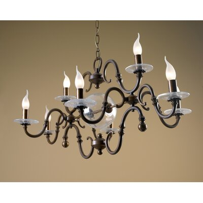Classic Etrusca Eight Light Chandelier by Lustrarte Lighting