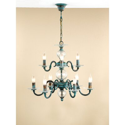 Classic Etrusca Nine Light Chandelier by Lustrarte Lighting