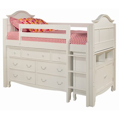 Bolton Furniture Emma Twin Loft Bed with Media Storage Cabinet