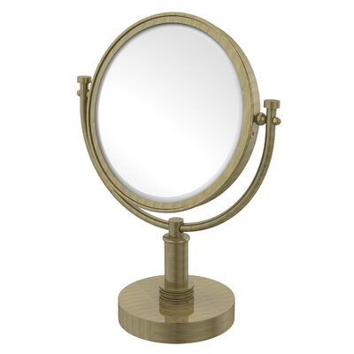 Vanity Top Make-Up 4X Magnification Mirror with Dotted Detail by Allied Brass