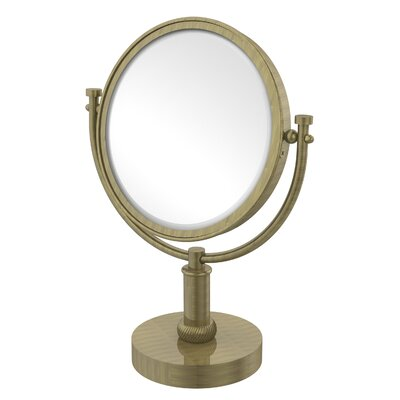 Vanity Top Make-Up 3X Magnification Mirror with Twist Detail by Allied Brass