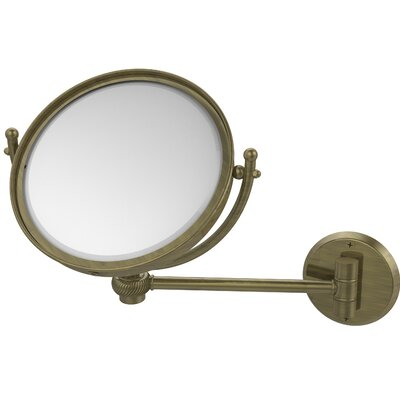 Wall Mounted Make-Up 3X Magnification Mirror with Twist Detail by Allied Brass