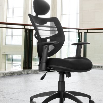 OFM Mesh Back Contemporary Conference Chair with Headrest
