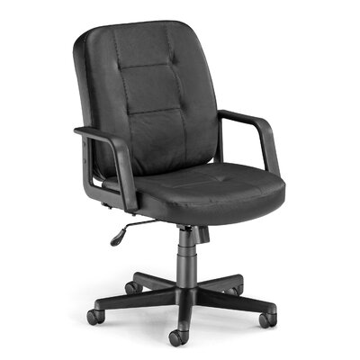 OFM Low-Back Leather Conference Chair with Arms