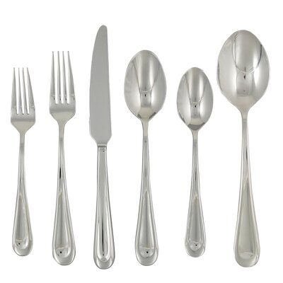 Corrie 42 Piece Stainless Flatware Set by Ginkgo