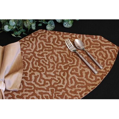 Illusion Table Linens Reversible Wedge Placemat by Pacific Table Linens