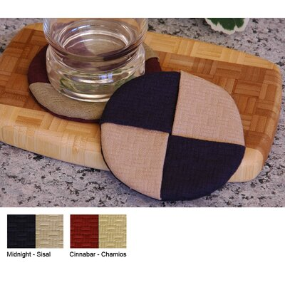 Pacific Table Linens Wicker Wine Glass Coaster