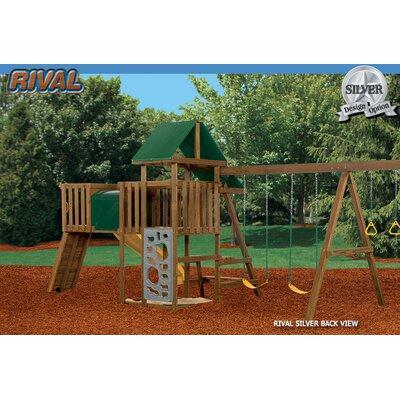 Playstar Inc. Rival Silver Swing Set