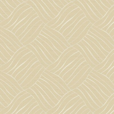 """York Wallcoverings Elements 27' x 27"""" Up in The Air Abstract Foiled Wallpaper"""