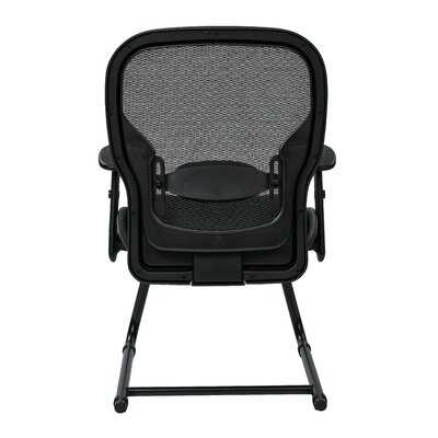 Office Star Products Office Star Space Seating Professional Breathable Mesh Back Visitors Chair with Eco Leather Seat