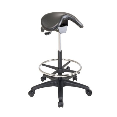 Varick Gallery Arambula Height Adjustable Backless Stool