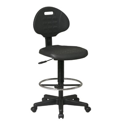 Office Star Products Height Adjustable Drafting Chair with Footrest