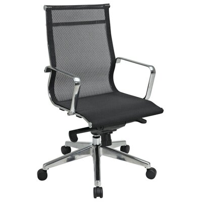 Office Star Products Deluxe Mesh Mid-Back Mesh Office Chair with Arms