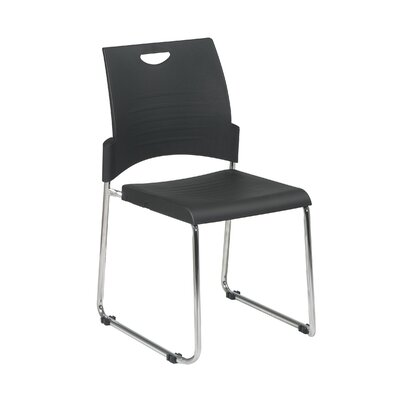 Office Star Products Work Smart Armless Straight Leg Stacking Chair