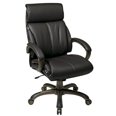 """Office Star Products 25.25"""" Back Leather Executive Chair"""